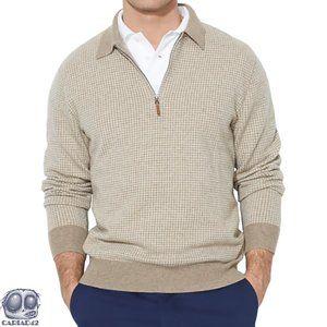 Ralph Lauren Mens 1/4 Zip Lamb Wool Sweater Medium